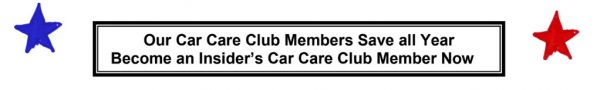 Ask how you can save money year round with our Car Care Club.